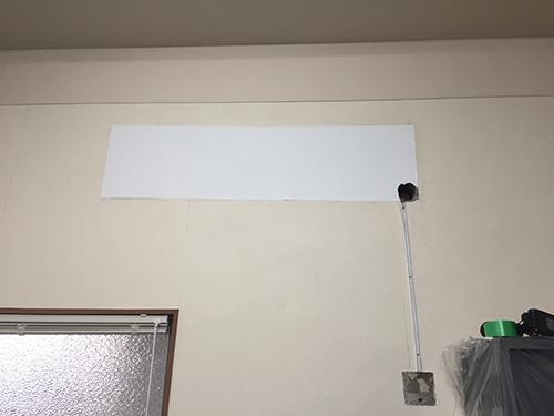 壁紙で補修