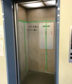 エレベーター内もしっかり養生