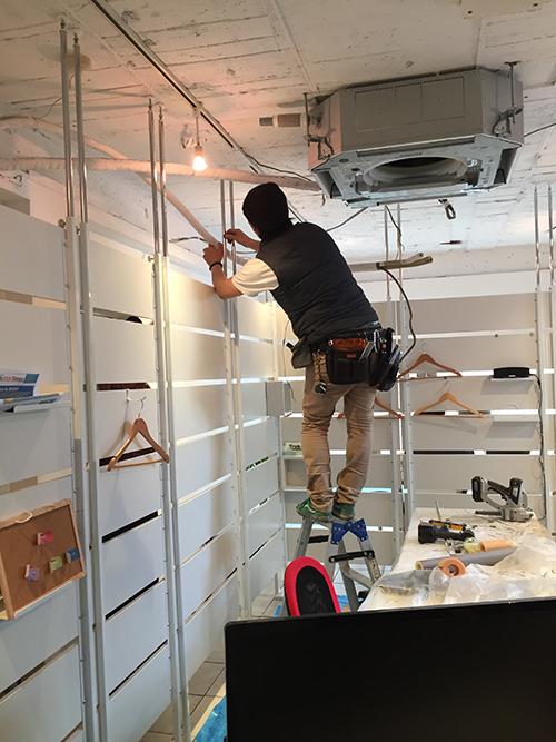 スケルトン天井は設置が楽です