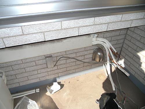 室外機の隠蔽配管