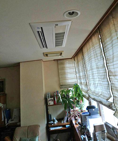 壁掛型エアコンの交換完了
