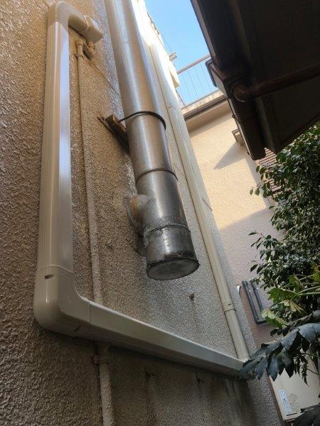 室外機の配管カバー新設