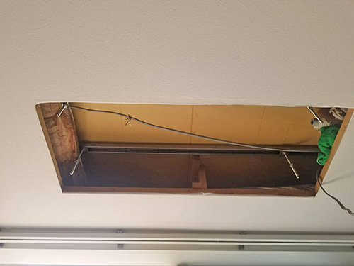 天井埋込形室内機撤去後