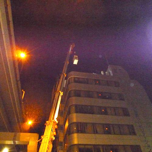 目黒区の専門学校ビルにて天井埋込形エアコン4方向の入替え-その2【業務用エアコン】