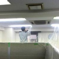 千代田区テナントビルにて天井埋込形4方向エアコン入替え【業務用エアコン】