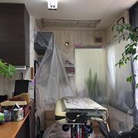 東京都江戸川区の理容室店舗にて壁掛形エアコンの入替え【業務用エアコン】