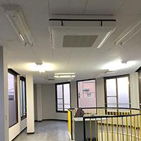 千葉県市川市のテナントビルにて天吊4方向の新規取付【業務用エアコン】