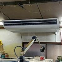 神奈川県川崎市の工場にて天井吊形エアコンの入替え【業務用エアコン】