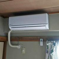 東京都江東区のマンションにて壁掛形ルームエアコンの入替え【家庭用エアコン】