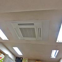 東京都大田区の会社オフィスにて天井吊形エアコンの入替え【業務用エアコン】