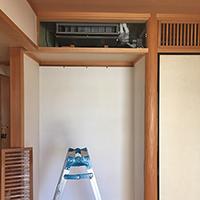 東京都台東区の住居にてハウジングマルチエアコンの入替え工事【ハウジングエアコン】