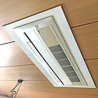 東京都練馬区の住居ビルにて天井埋込形1方向エアコンの入替え工事【ハウジングエアコン】
