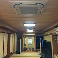東京都杉並区の寺院にてビル用天井埋込形4方向エアコンの入替え工事【業務用エアコン】