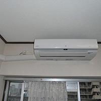 埼玉県川口市のマンションにて日立製壁掛形エアコンの新規取付工事【ルームエアコン】