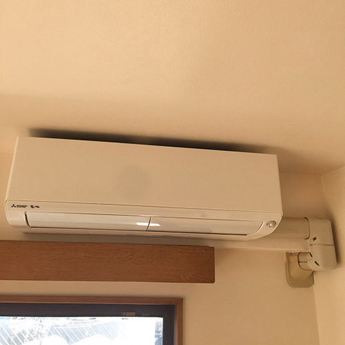 東京都中野区のマンションにて三菱電機製壁掛形2台マルチエアコンの入替え工事【ハウジングエアコン】