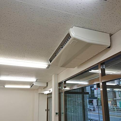 東京都江東区のビルテナントにて三菱重工製天井吊形一方向エアコンの入替え工事【業務用エアコン】