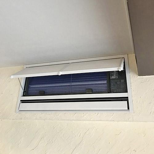 東京都大田区のマンションにて三菱電機製壁埋込形エアコンの入替え工事【ハウジングエアコン】