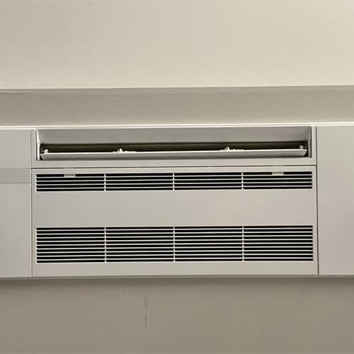 東京都世田谷区のマンションにて三菱電機製天井カセット形シングルフローエアコンの入替え工事【ハウジングエアコン】