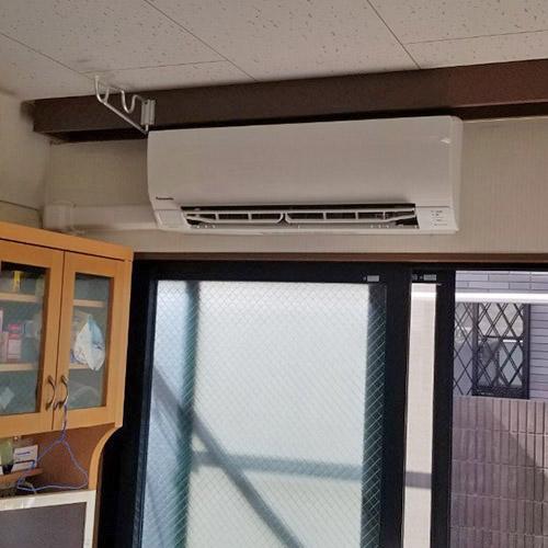 埼玉県さいたま市の事務所にてパナソニック製壁掛形エアコンの入替え工事【業務用エアコン】